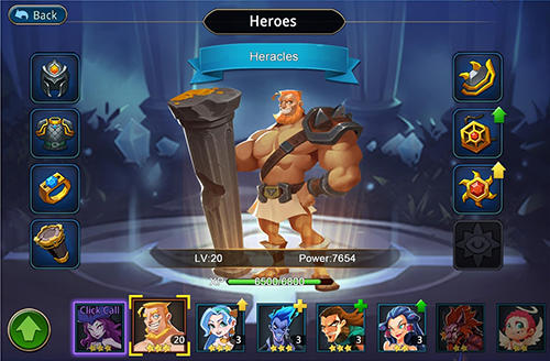 Screenshots von Olympians vs titans für Android-Tablet, Smartphone.