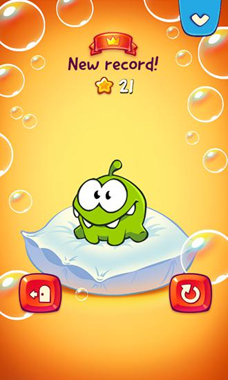 Screenshots do Om Nom: Bubbles - Perigoso para tablet e celular Android.