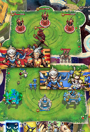 Android タブレット、携帯電話用Omega wars: Champions of the galaxyのスクリーンショット。