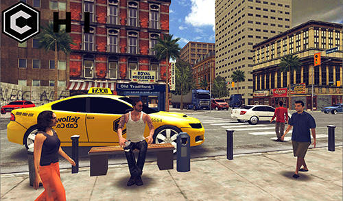 Open world driver: Taxi simulator 3D free racing screenshot 3