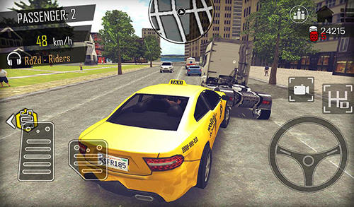 Open world driver: Taxi simulator 3D free racing screenshot 4