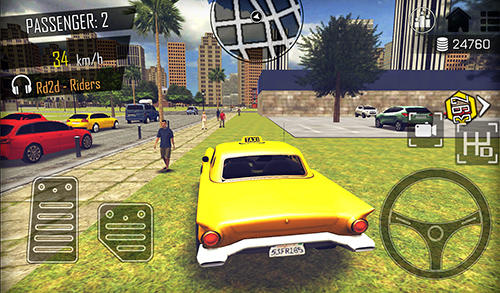 Open world driver: Taxi simulator 3D free racing screenshot 5