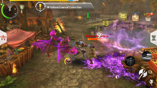 Геймплей Order and chaos 2: Redemption для Android телефону.