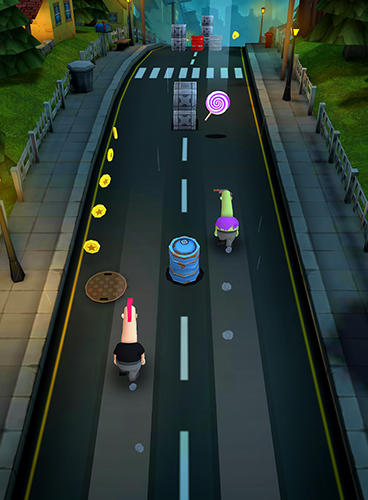 Screenshots von Overspin: Night run für Android-Tablet, Smartphone.