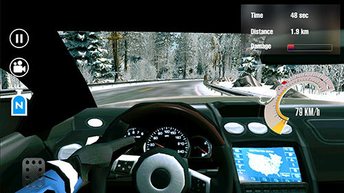 Screenshots do Overtake: Car traffic racing - Perigoso para tablet e celular Android.