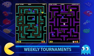 玩安卓版PAC-MAN +Tournaments。免费下载游戏。