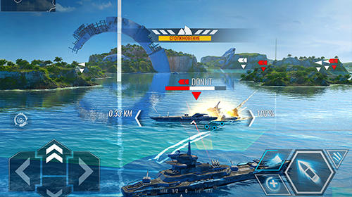 Android タブレット、携帯電話用Pacific warships: Epic battleのスクリーンショット。