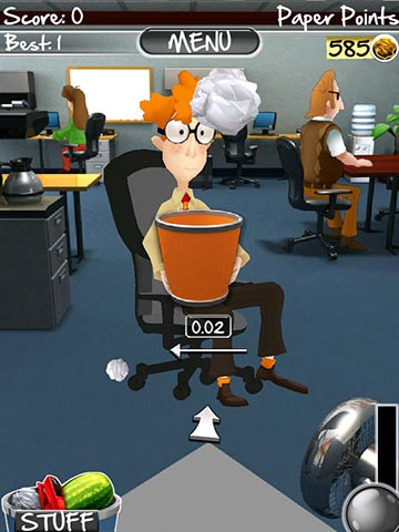 Paper toss 2.0 screenshot 1