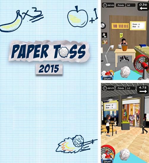 In addition to the game Paper toss for Android phones and tablets, you can also download Paper toss 2015 for free.