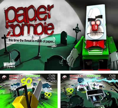 In addition to the game Motoheroz for Android phones and tablets, you can also download Paper Zombie for free.