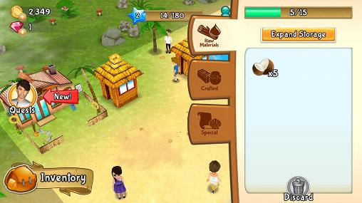 Screenshots von Paradise resort: Free island für Android-Tablet, Smartphone.