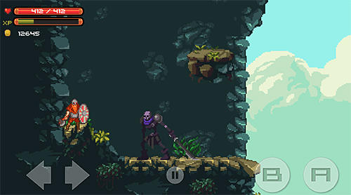 Screenshots of the Path to Valhalla for Android tablet, phone.