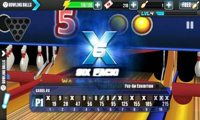 Screenshots of the PBA Bowling Challenge for Android tablet, phone.