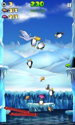 Screenshots of the Penguin Palooza for Android tablet, phone.