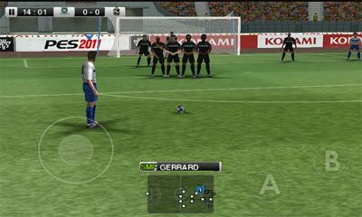 Screenshots do PES 2011 Pro Evolution Soccer - Perigoso para tablet e celular Android.