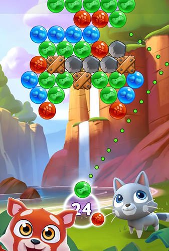 Screenshots of the Pet paradise: Bubble shooter for Android tablet, phone.