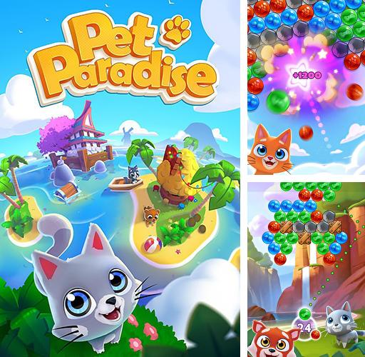 In addition to the game Tomcat pop: Bubble shooter for Android phones and tablets, you can also download Pet paradise: Bubble shooter for free.