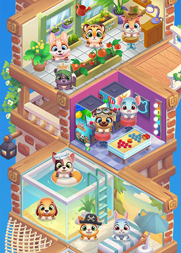 Screenshots von Pet rescue: Puzzle saga für Android-Tablet, Smartphone.