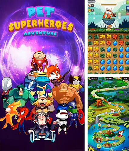 Pet superheroes adventure puzzle quest