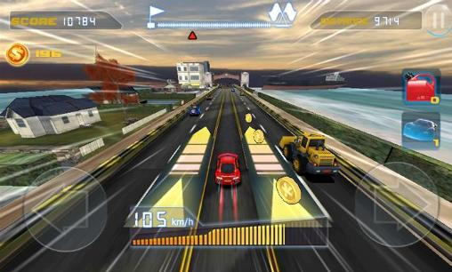 Capturas de pantalla de Phone racing 3D. Car rivals: Real racing para tabletas y teléfonos Android.