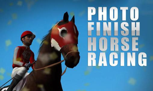 Photo finish: Horse racing poster