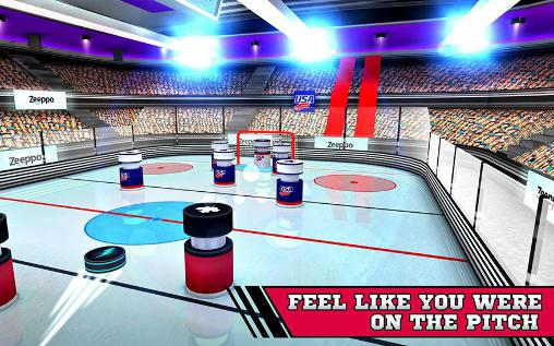 Pin hockey: Ice arena screenshot 2