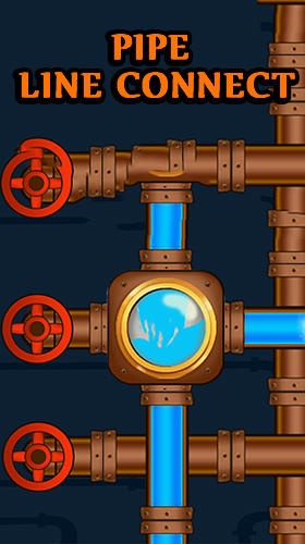 Pipe line connect: Water plumber puzzle game poster