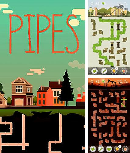 Pipes game: Free puzzle for adults and kids