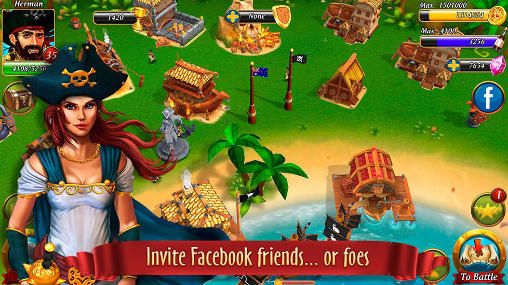 Screenshots von Pirate battles: Corsairs bay für Android-Tablet, Smartphone.