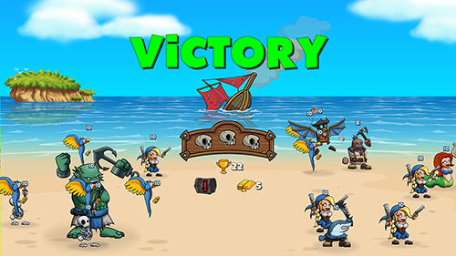 Kostenloses Android-Game Pirate Brawl: Strategie auf dem Meer. Vollversion der Android-apk-App Hirschjäger: Die Pirate brawl: Strategy at sea für Tablets und Telefone.