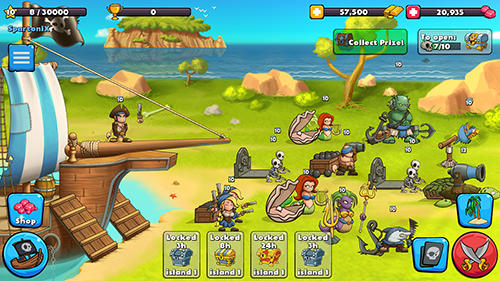 Pirate brawl: Strategy at sea für Android spielen. Spiel Pirate Brawl: Strategie auf dem Meer kostenloser Download.