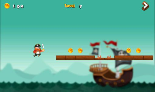 Геймплей Pirate castle run для Android телефону.