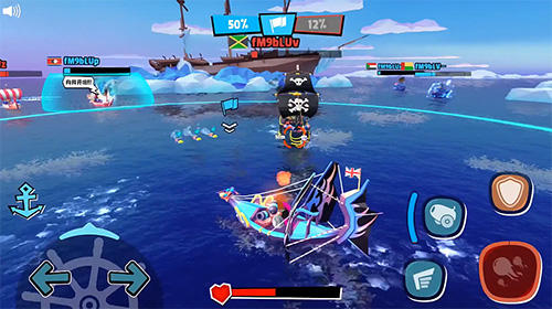 Геймплей Pirate code: PVP Battles at sea для Android телефону.