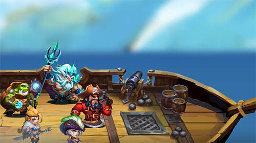 Screenshots von Pirate heroes: Siege of Atlantis für Android-Tablet, Smartphone.