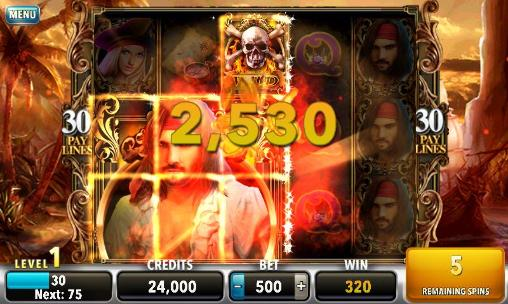 Screenshots von Pirates of the dark seas: Slots für Android-Tablet, Smartphone.