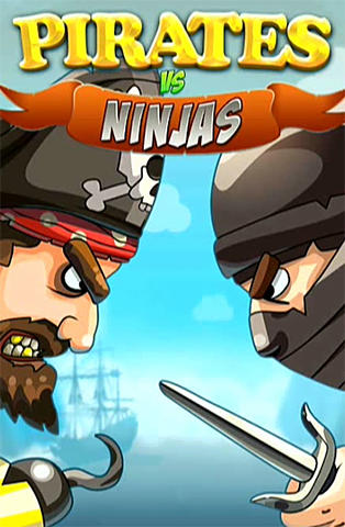 Pirates vs ninjas: 2 player game poster