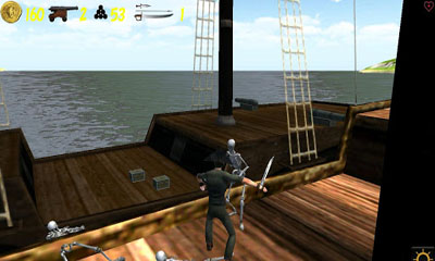 Screenshots of the Pirates vs Zombies for Android tablet, phone.