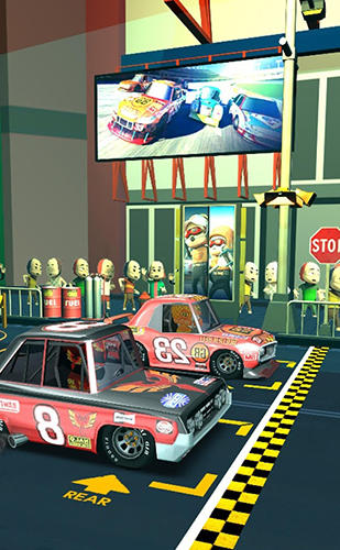Android タブレット、携帯電話用Pit stop racing: Managerのスクリーンショット。
