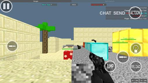 Download Pixel combat multiplayer HD Android free game.