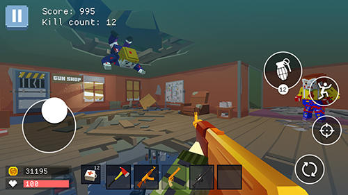 Screenshots von Pixel combat: World of guns für Android-Tablet, Smartphone.