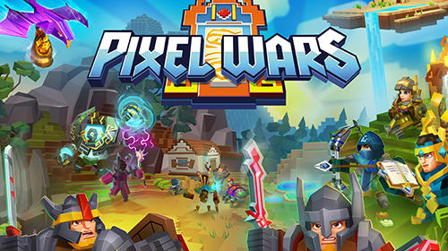 Pixel wars: MMO action poster