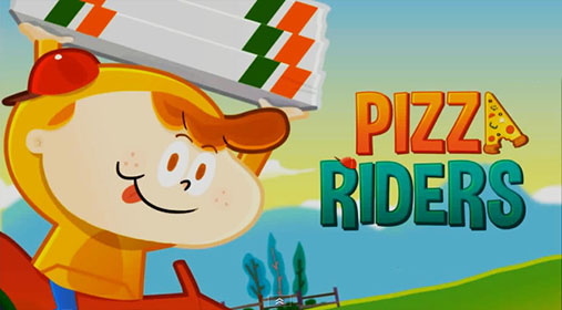 Pizza riders poster