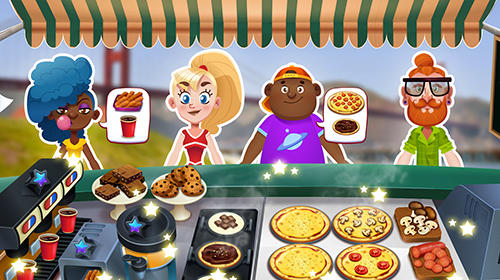 Jogue Pizza truck California: Fast food cooking game para Android. Jogo Pizza truck California: Fast food cooking game para download gratuito.
