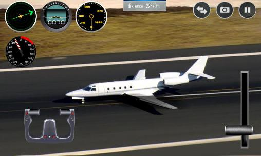 Screenshots von Plane simulator 3D für Android-Tablet, Smartphone.