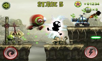 Screenshots of the Planet Attack Runner for Android tablet, phone.