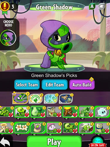 安卓平板、手机Plants vs zombies: Heroes截图。
