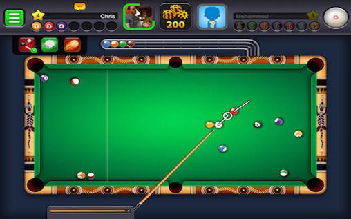 Android タブレット、携帯電話用Play 8 ball: Board poolのスクリーンショット。