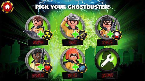 Screenshots of the Playmobil Ghostbusters for Android tablet, phone.