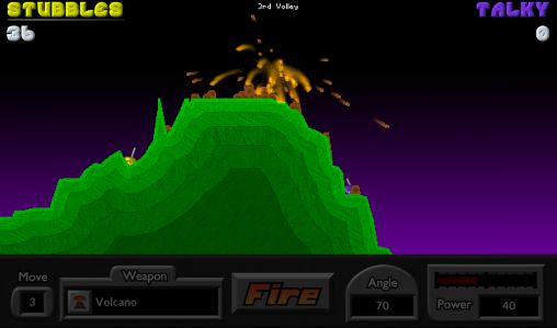 Геймплей Pocket tanks для Android телефону.