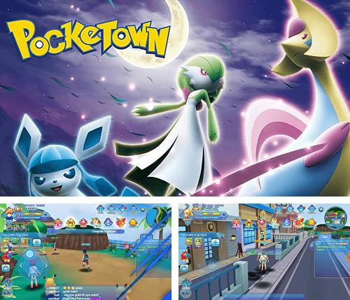 In addition to the game Digimon links for Android phones and tablets, you can also download Pocketown for free.